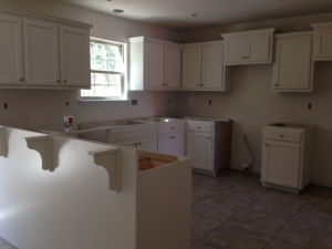 kitchen without granite