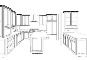 529 Veracruz interior kitchen plans